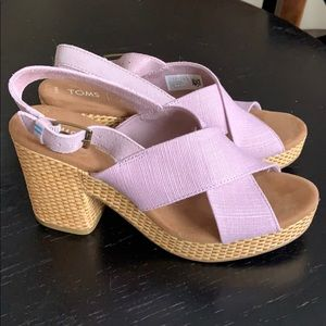 BRAND NEW Tom's Dress Sandal Size 8.5